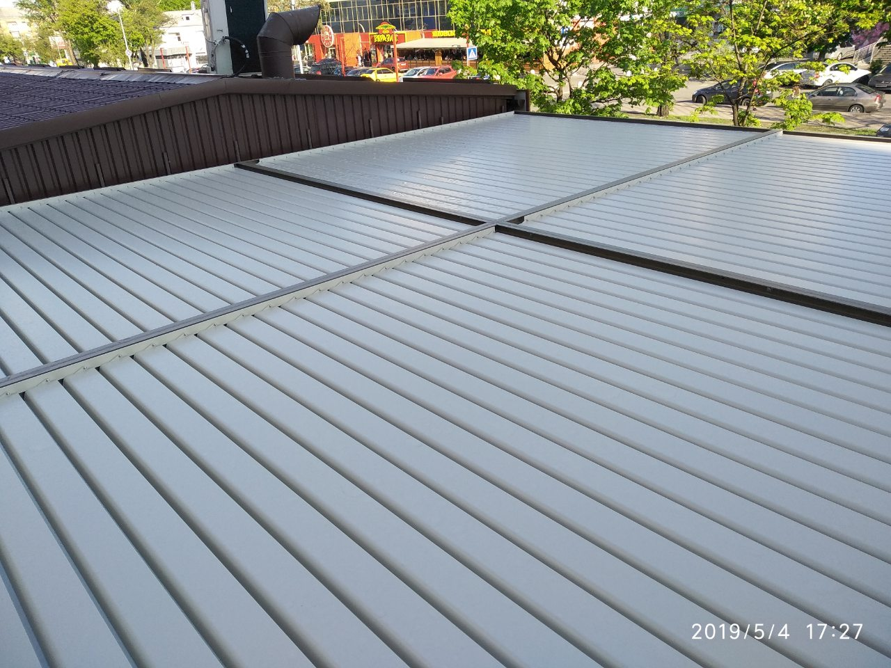 Крыша ламельной перголы